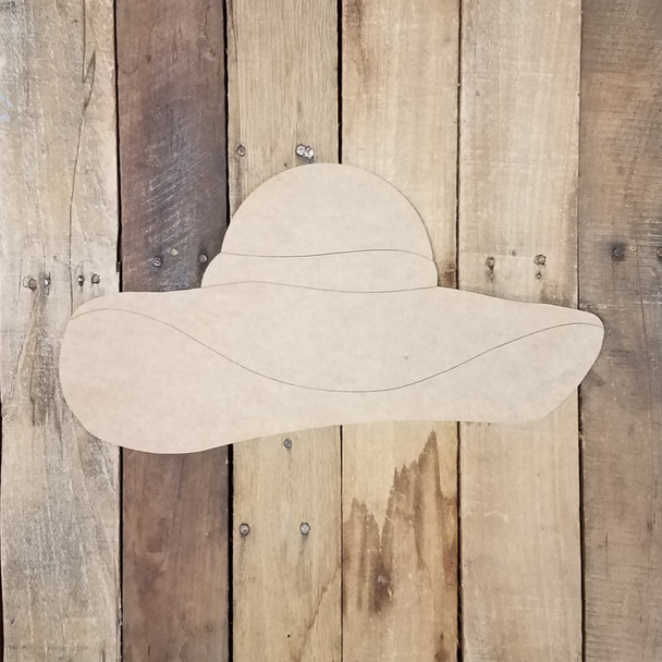 Simple Sun Hat Cutout, Unfinished Wall Decor Paint by Line