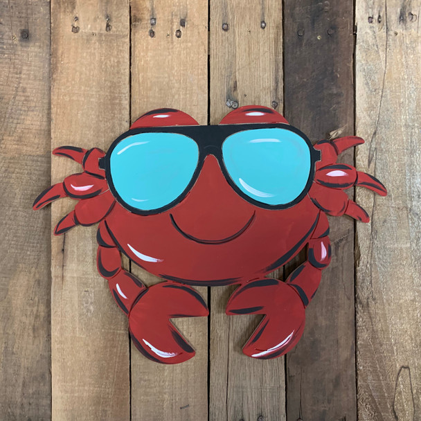 Cartoon Beach Crab Shape, Unfinished Craft, Paint by Line
