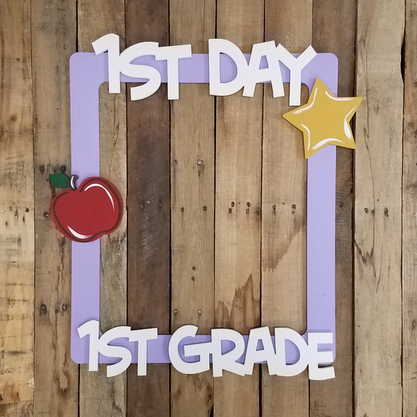 1st Day Back to School Photo Prop Kit, Unfinished Wooden Kit
