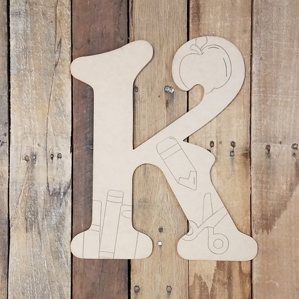 Beltorian Back to School Letters, Unfinished Paint by Line