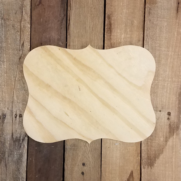 Pine Unfinished Wooden Addison Plaque, Blank Wooden Plaques