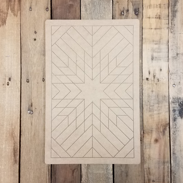 Rectangle Geometric Art Wall Hanger, Unfinished Wood Shape