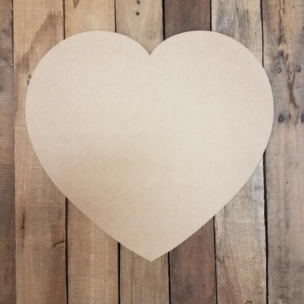 Big Valentine Heart Unfinished Cutout