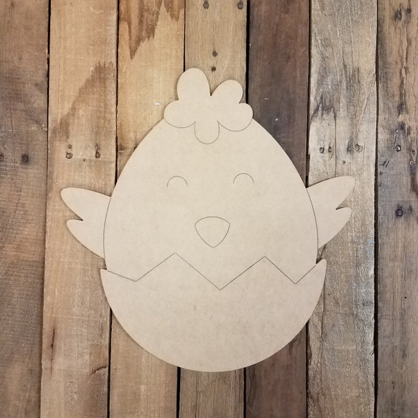 Hatching Easter Baby Chick Cutout