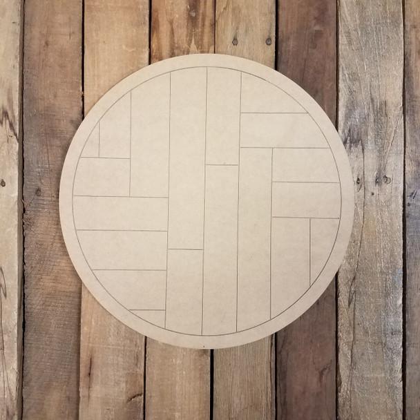 Geometric Art Pattern Circle-Unfinished Wood Shape