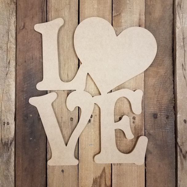 Beltorian Love With Heart Valentine Shape, Paint by Line