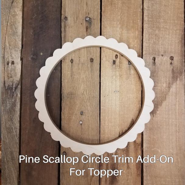 Happy Easter Unfinished Stackable Circle Easel Kit, Engraved DIY Craft Decor Set