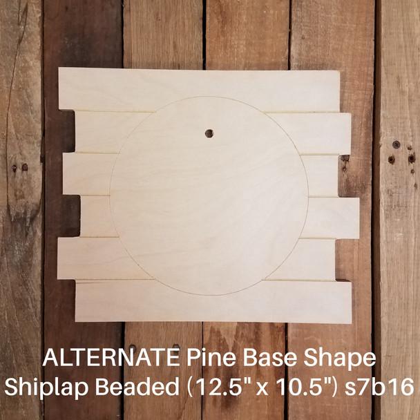 State Abbreviation Shape Unfinished Circle Easel Kit, Engraved DIY Craft Decor Set