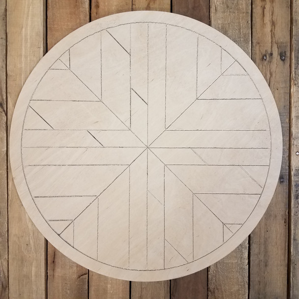 Boho DIY Geometric Art Circle, Unfinished Pine Wood Shape Paint by Line