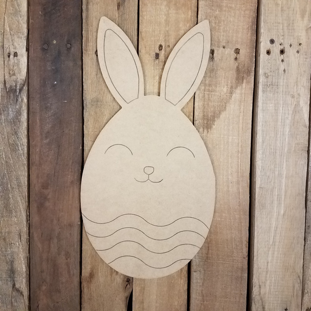 Easter Egg Bunny, Craft Wood Cutout