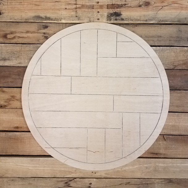 Boho Geometric Wall Art Circle White Pine