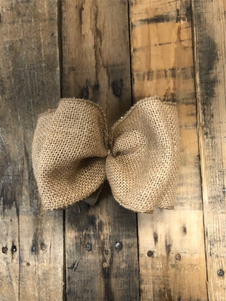 Pack of 5 Handmade Burlap Bows with Shaping Wire