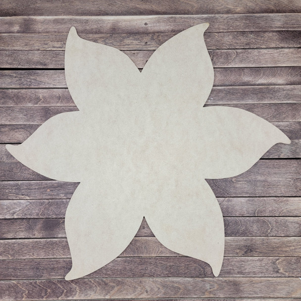 Layered Poinsettia Flower 2 Piece Set, Unfinished Wall Art