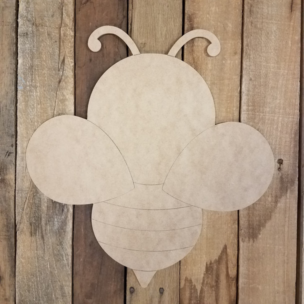 Honey Bee Cutout Unfinished