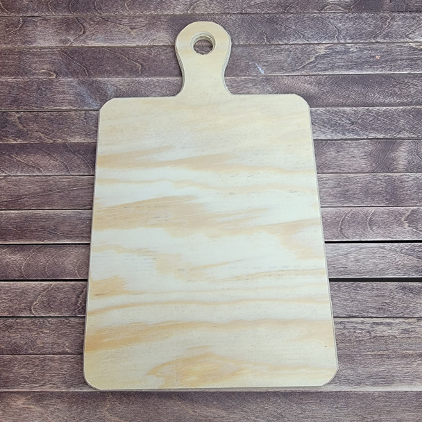 Pine Charcuterie Bread Board Paddle Design, Unfinished Wood Craft Shape