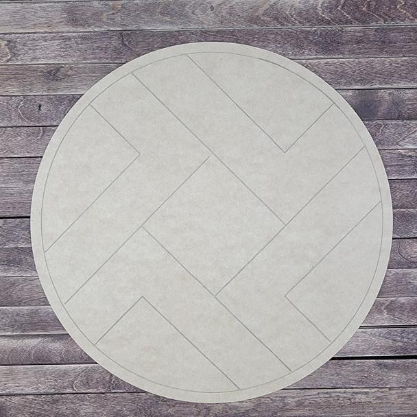 Geometric Circle Pattern Boho Style , Paint by Line, Wood Craft Design