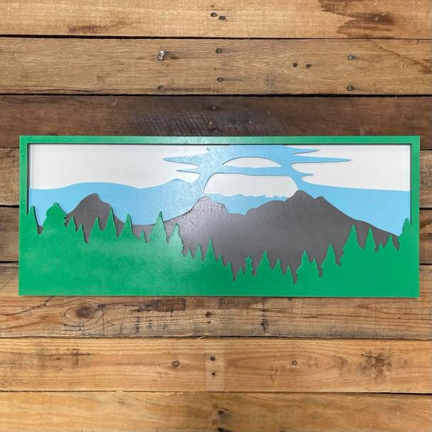 Forest Sunset Landscape Art Layered Wall Décor, Unfinished 4 Piece Set