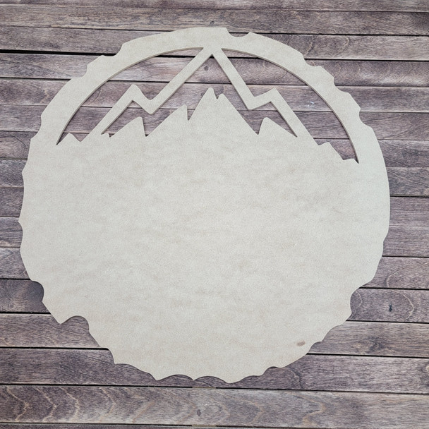 Tree Ring Mountain Landscape Art, Layered Wall Décor, Unfinished 3 Piece Set