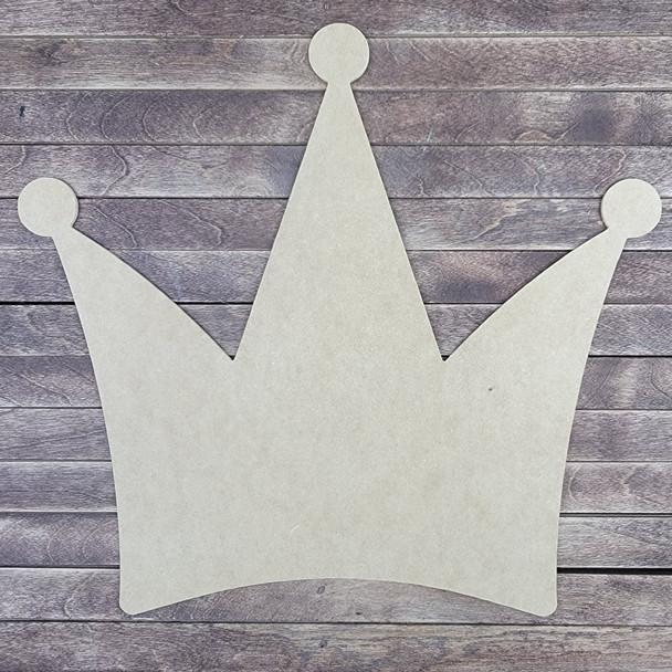 Three Point Crown Décor, Wood Craft Cutout