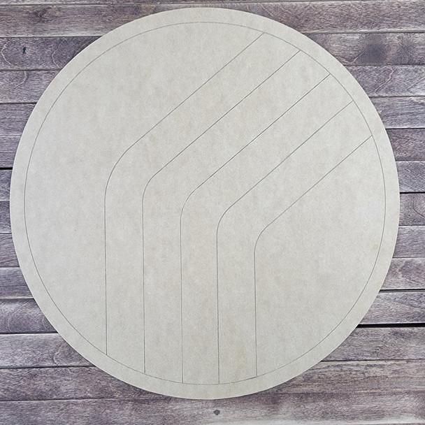 Chevron Circle Design, Paint by Line, Wood Craft Cutout