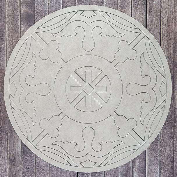 Hidalgo Pattern Circle shape, Paint by Line, Wood Craft Cutout