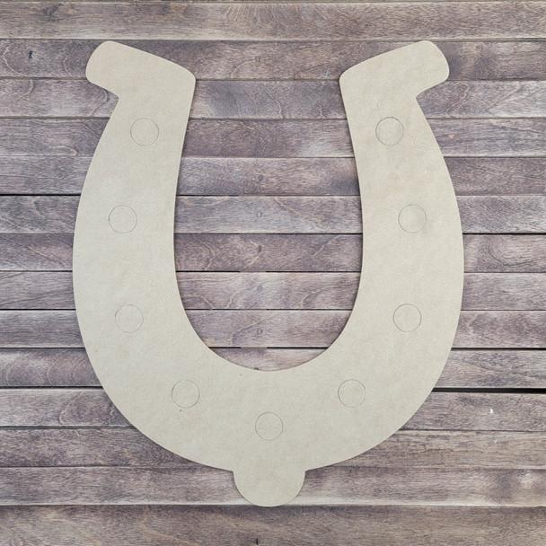 Horseshoe Design, Paint by Line, Wood Craft Cutout