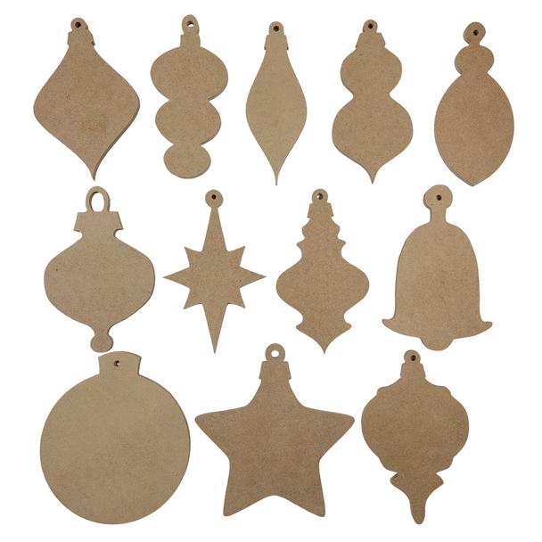 Ornament Shapes Sampler Set White Background