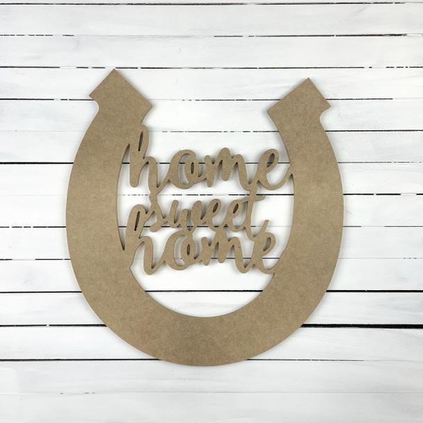 Horseshoe Home Sweet Home Word Phrase