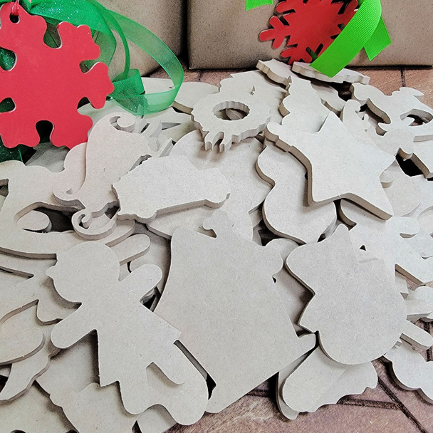 """Assorted Christmas Shapes Bag, Mixed 3"""" and 4"""" Holiday Ornament Shapes, Free 2 Day Shipping!"""