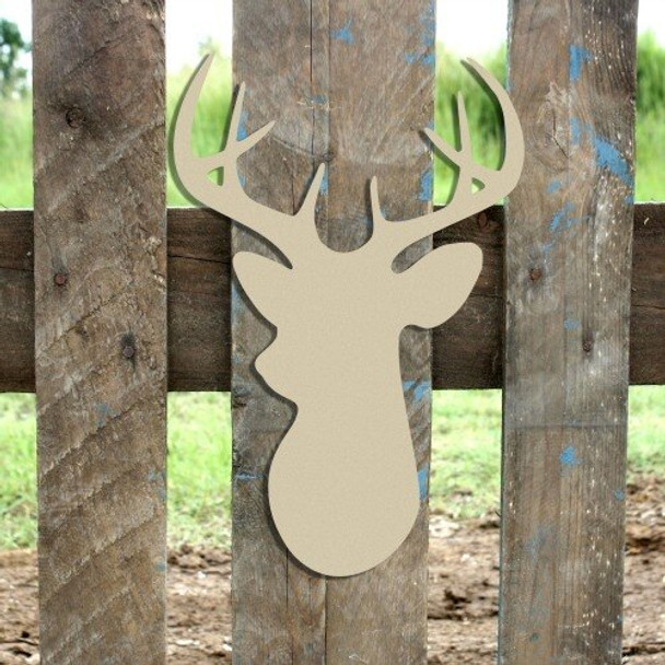 8 Point Buck Unfinished Cutout