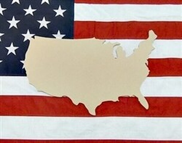 States & Countries-Unfinished Wooden Cutout