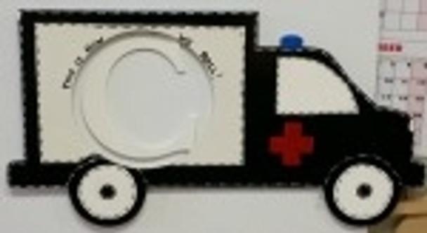 Ambulance Frame Letter Insert Wooden Monogram Unfinished  DIY Craft