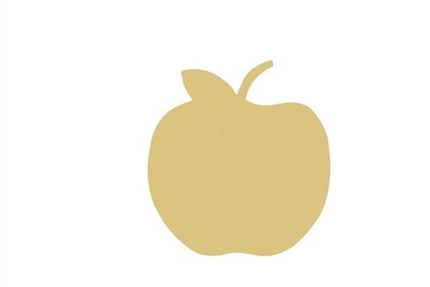 Apple Unfinished Cutout Paintable Wooden MDF DIY Craft