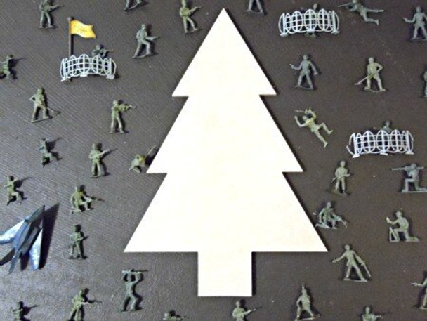 Army Pine Tree Unfinished Cutout