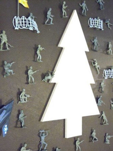 Army Pine Tree Unfinished Cutout Paintable MDF Craft