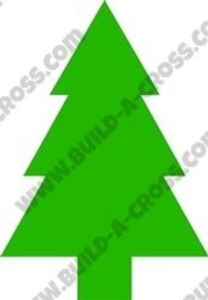 Army Pine Tree Unfinished Cutout build-a-cross