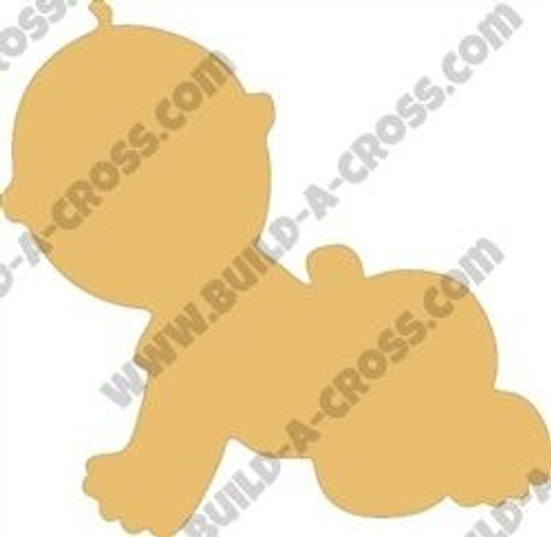 Baby Unfinished Cutout Paintable Wooden MDF Craft build-a-cross