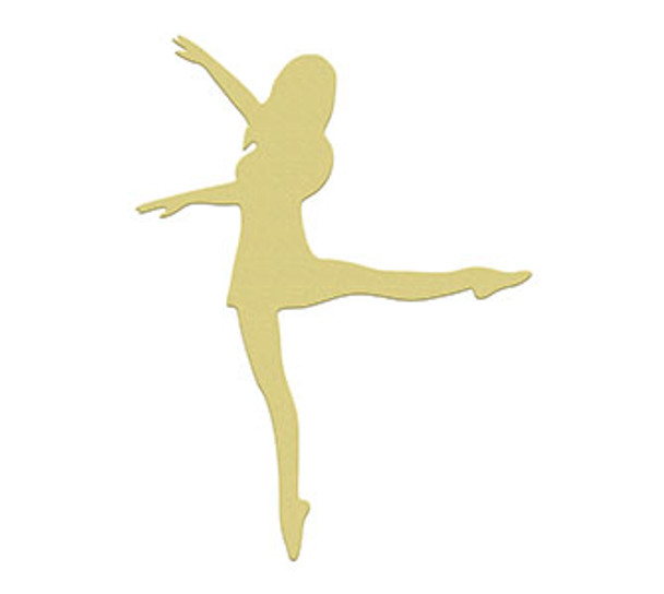 Ballerina 3 Unfinished Cutout, Wooden Shape, Paintable MDF DIY Craft