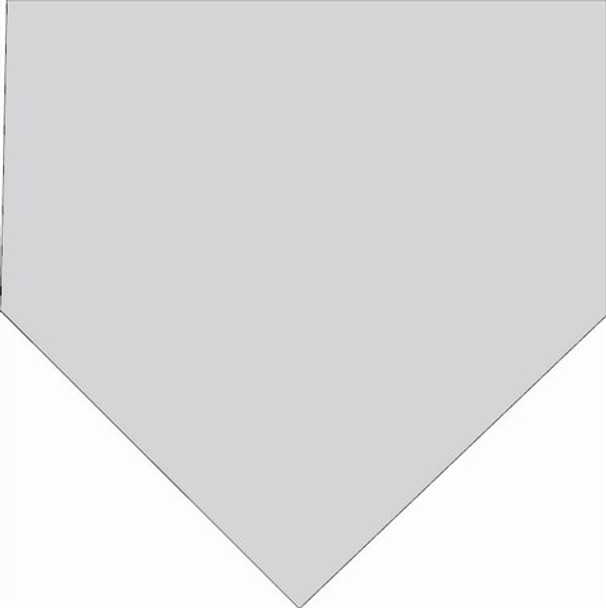 Baseball Home Plate Unfinished Wooden Shape