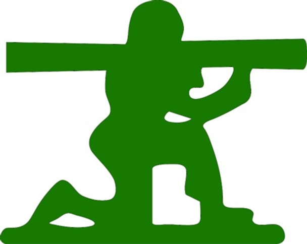 Bazooka Man Unfinished Cutout, Wooden Shape, Paintable MDF  Craft