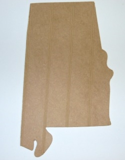 Wood State Alabama Unfinished Beadboard, Paint-able  MDF DIY Craft