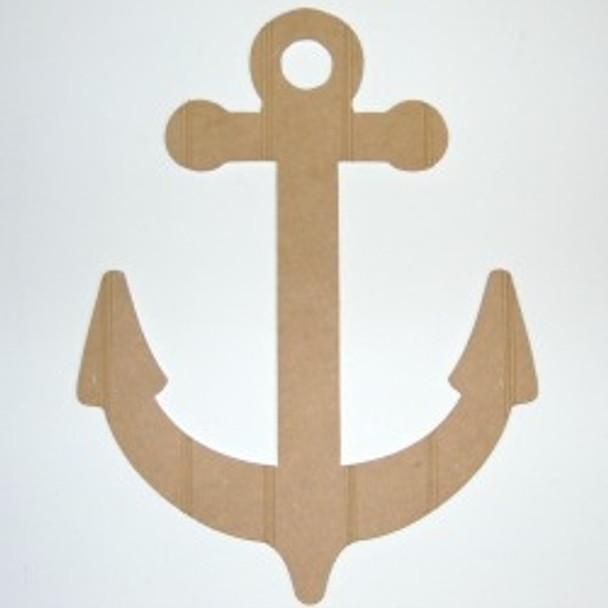 Wood Anchor Cutout Beadboard Shape Paint-able MDF DIY Craft