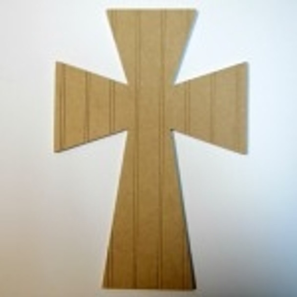 Unfinished Wooden Cross 13 Beadboard  Paint-able Wall Hanging Stackable
