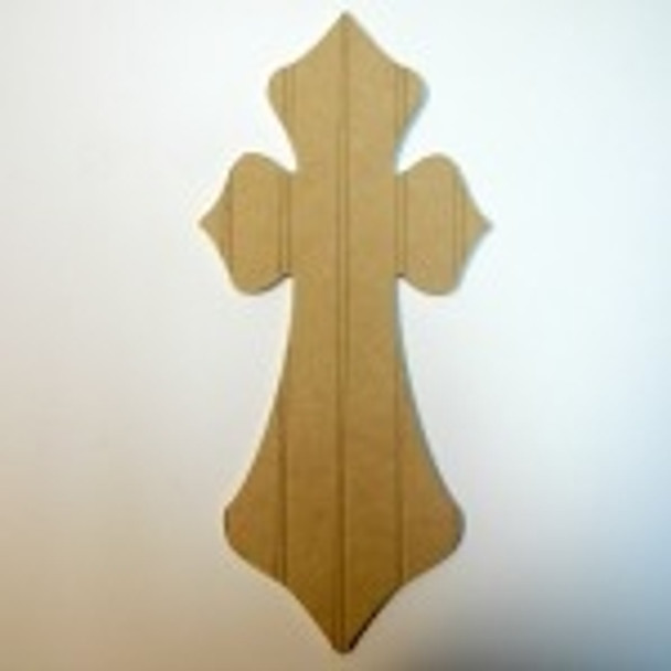 Unfinished Wooden Cross 21 Beadboard  Paint-able Wall Hanging Stackable