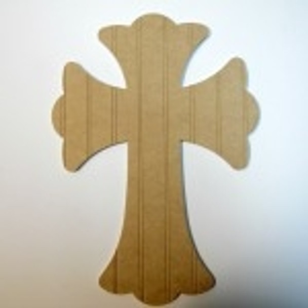 Unfinished Wooden Cross Beadboard Paint-able Wall Hanging Stackable