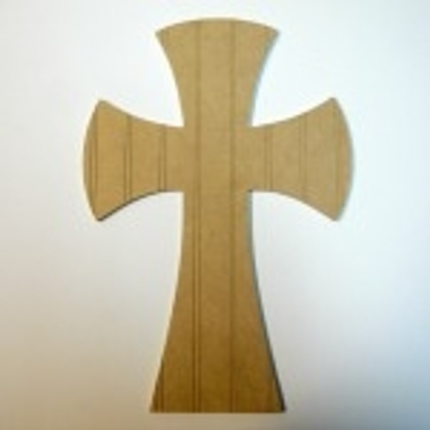 Unfinished Wooden Cross Beadboard  Paint-able Wall Hanging Stackable Cross 63