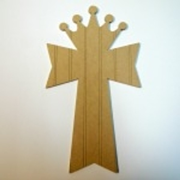 Unfinished Wooden Cross 7 Beadboard Paint-able Wall Hanging Stackable