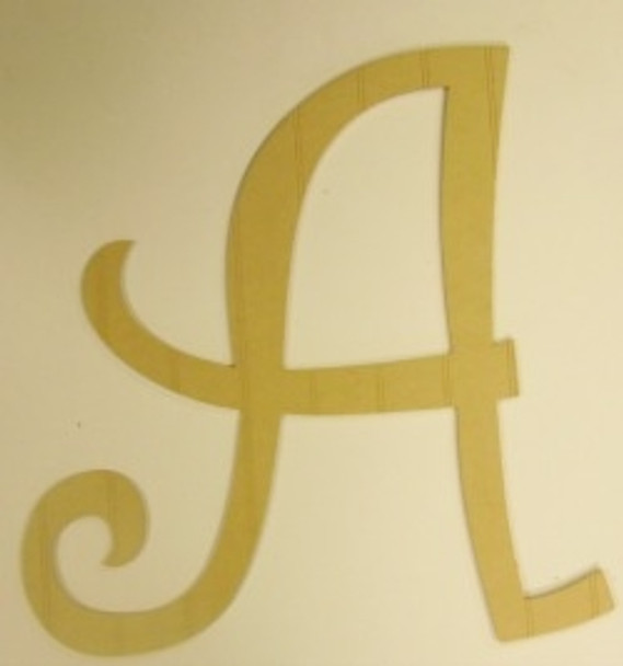 Wooden Beadboard Alphabet Curlz Letters Wall Decor Paint-able DIY