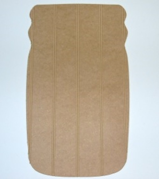 Wooden Mason Jar Cutout Bead board Shape Paint-able MDF DIY Craft