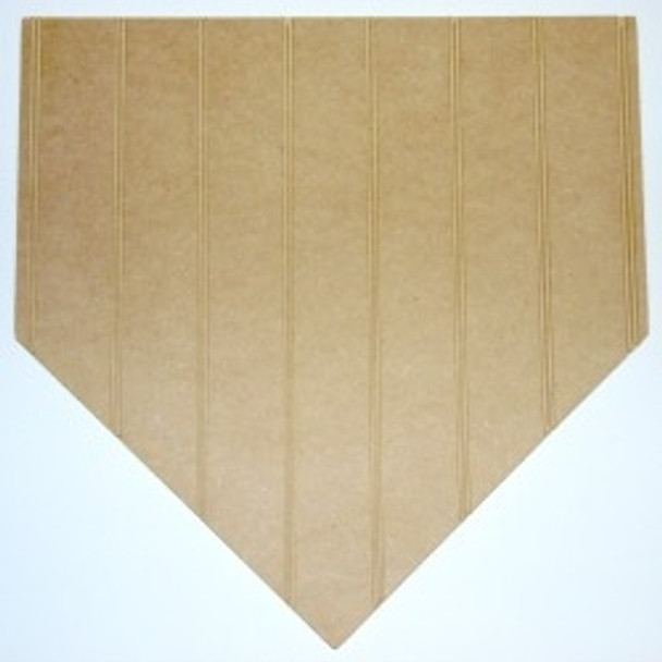 Wooden Homeplate Cutout Beadboard Shape Paint-able MDF DIY Craft
